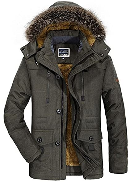 Men's High quality Winter Warmth Thicken Casual Field Jacket with ...