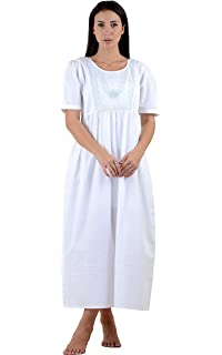 PLUS SIZE Donna Stampato Cotone Camicia da notteCotone Lane
