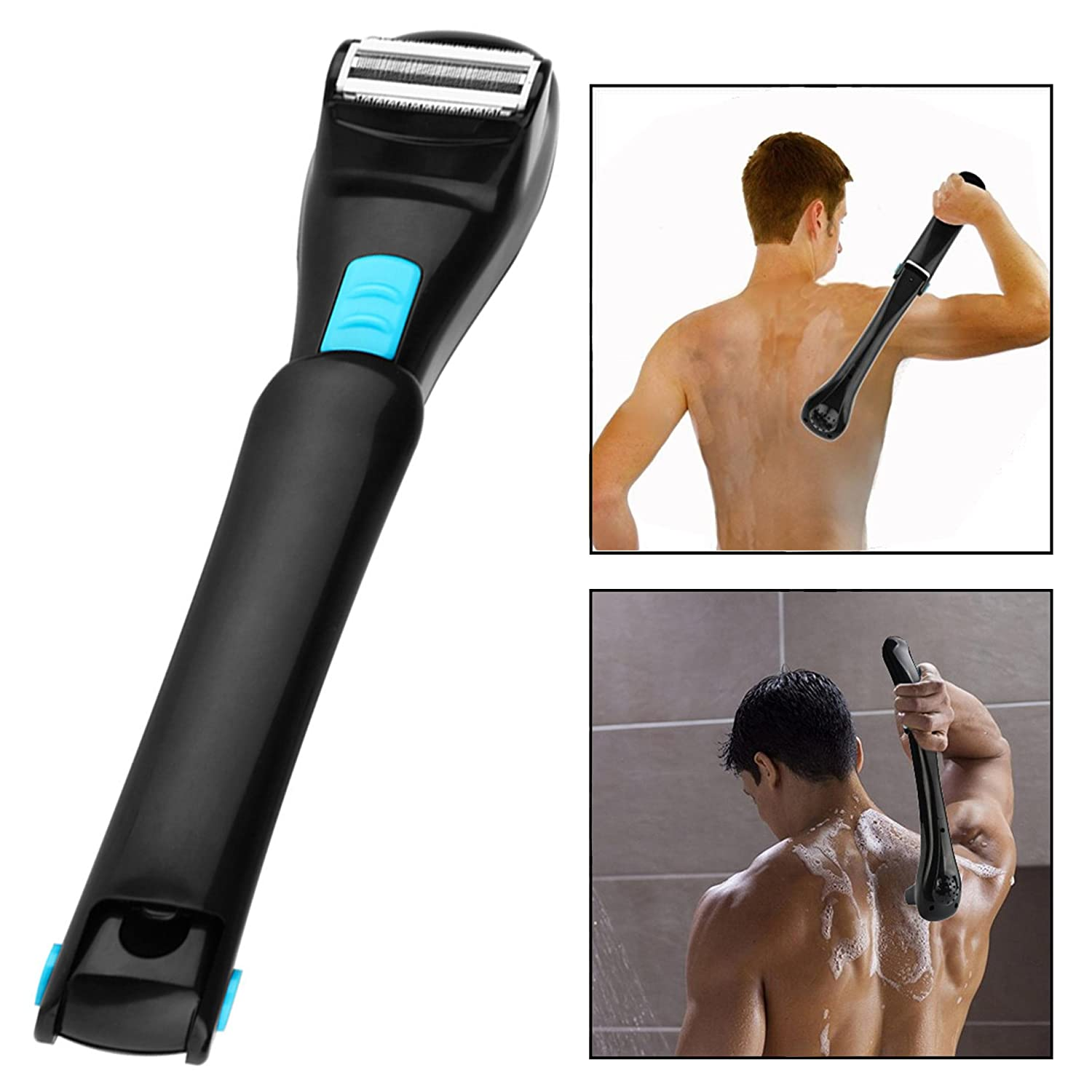 OFKP Portable Back Electric Shaver, Groomer Shaving Do-It-Yourself Electric Back Razor Body Hair Trimmer