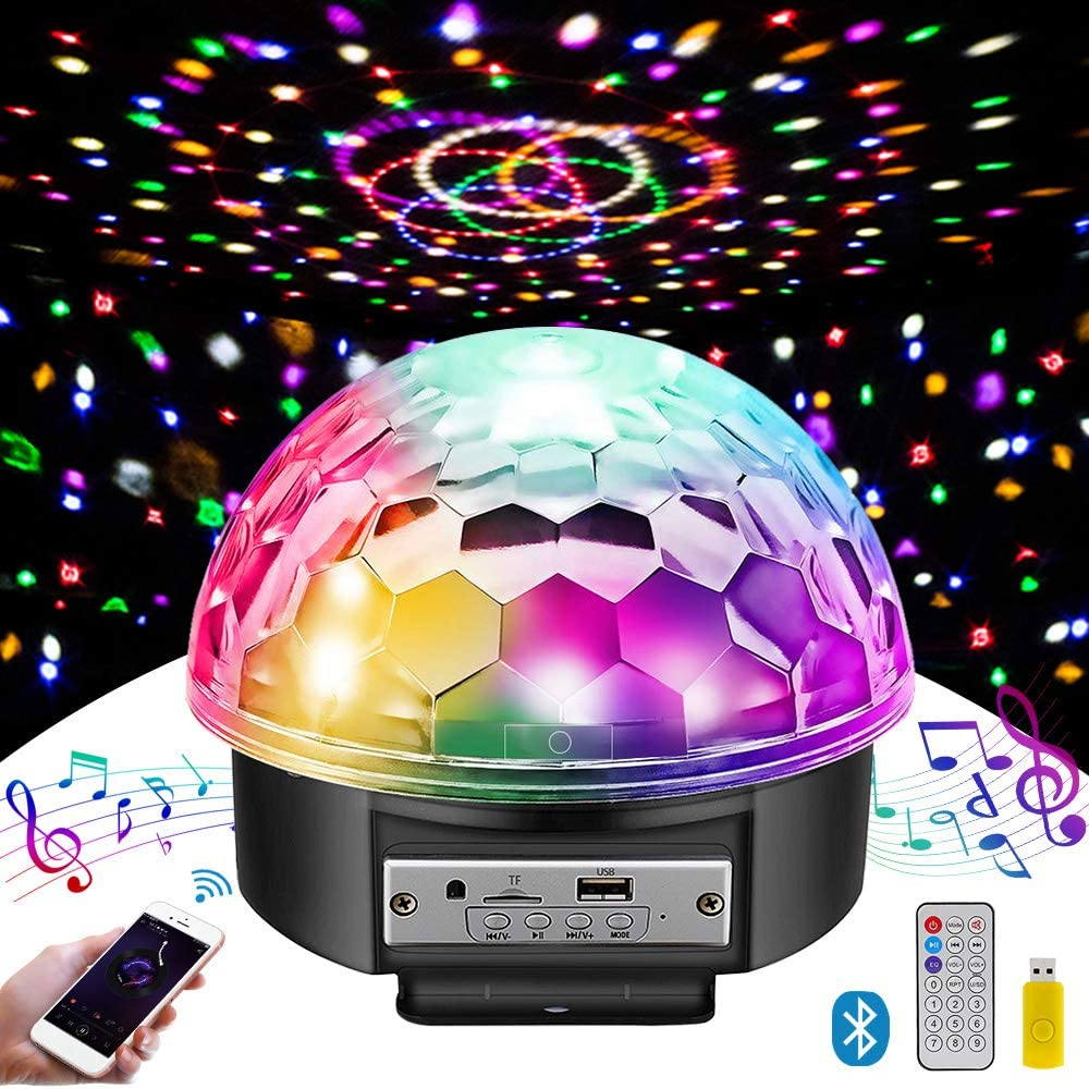 MOSFiATA Disco Ball Party Lights Bluetooth Speaker