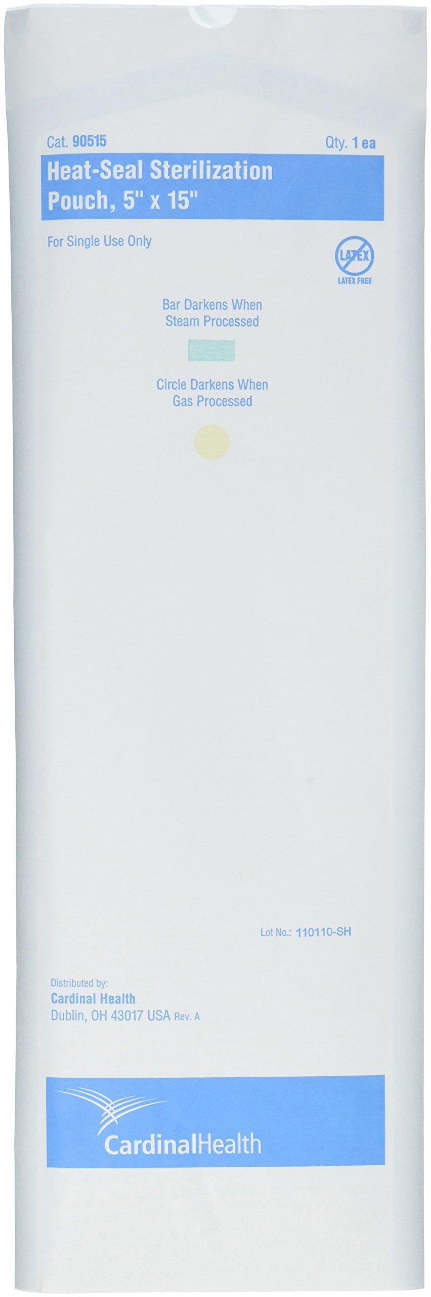 Cardinal Health 90515 Paper Blue Film Heat Seal Pouche, 5'' Width x 15'' Length (Case of 1000)