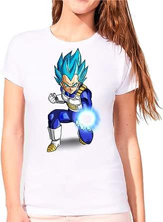 The Fan Tee Camiseta de Mujer Dragon Ball Goku Vegeta Bolas ...