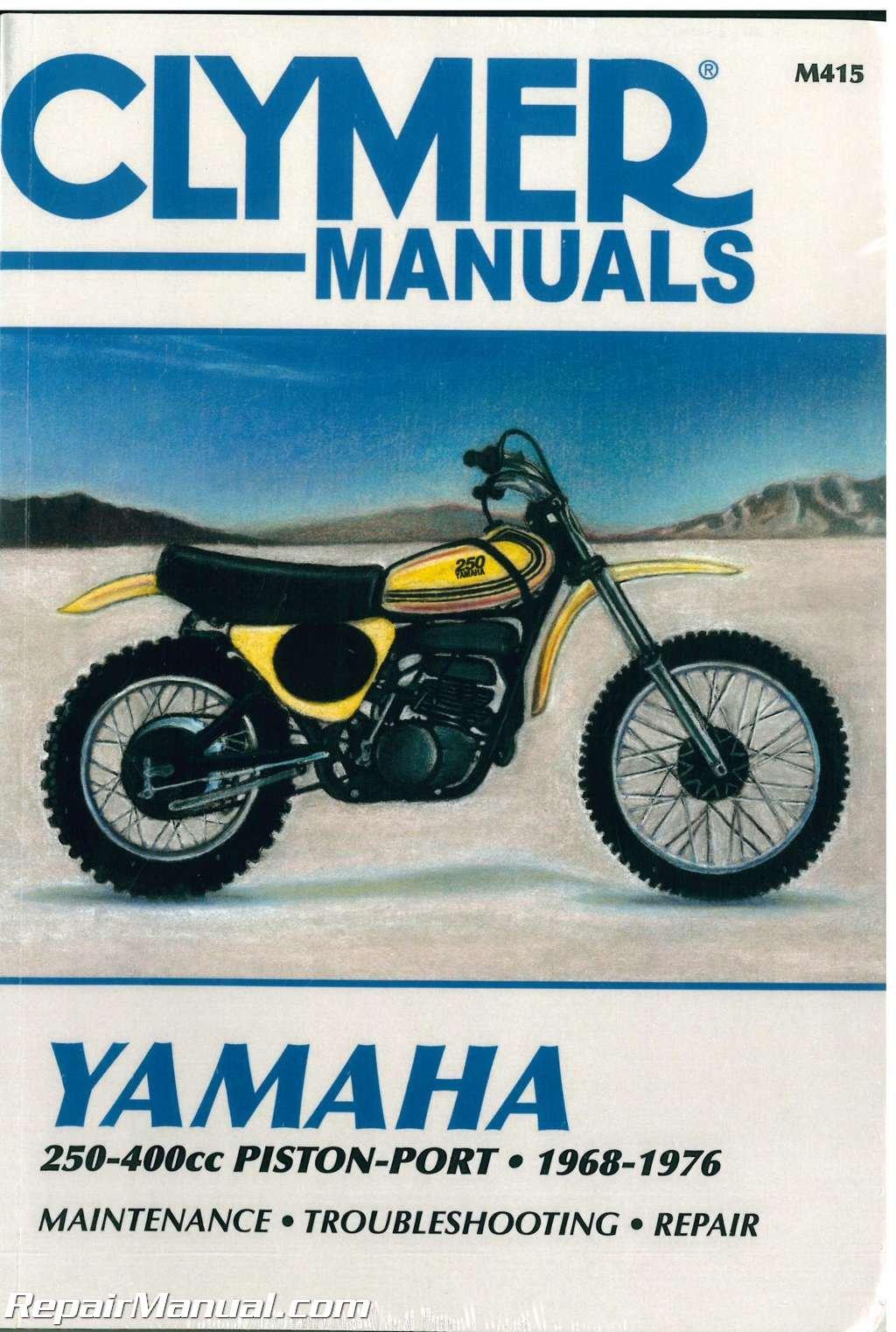 m415 1968-1976 yamaha 250-400cc piston port clymer motorcycle repair manual  paperback – 2004