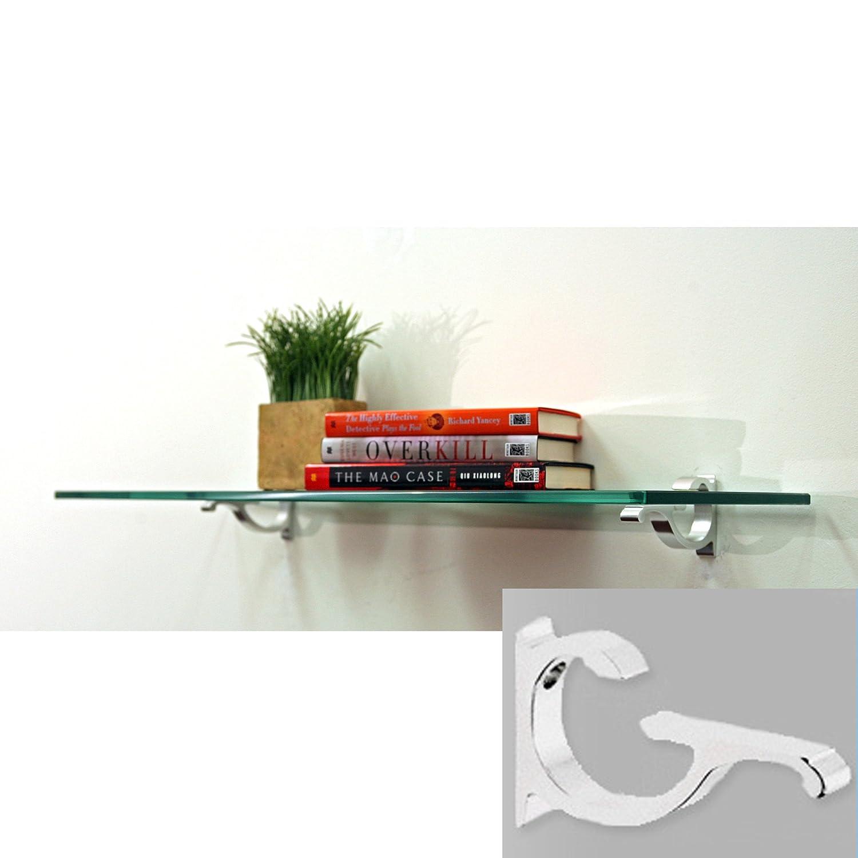 Amazon.com: Spancraft Monarch Floating Glass Shelf (33 in. W x 10 in ...