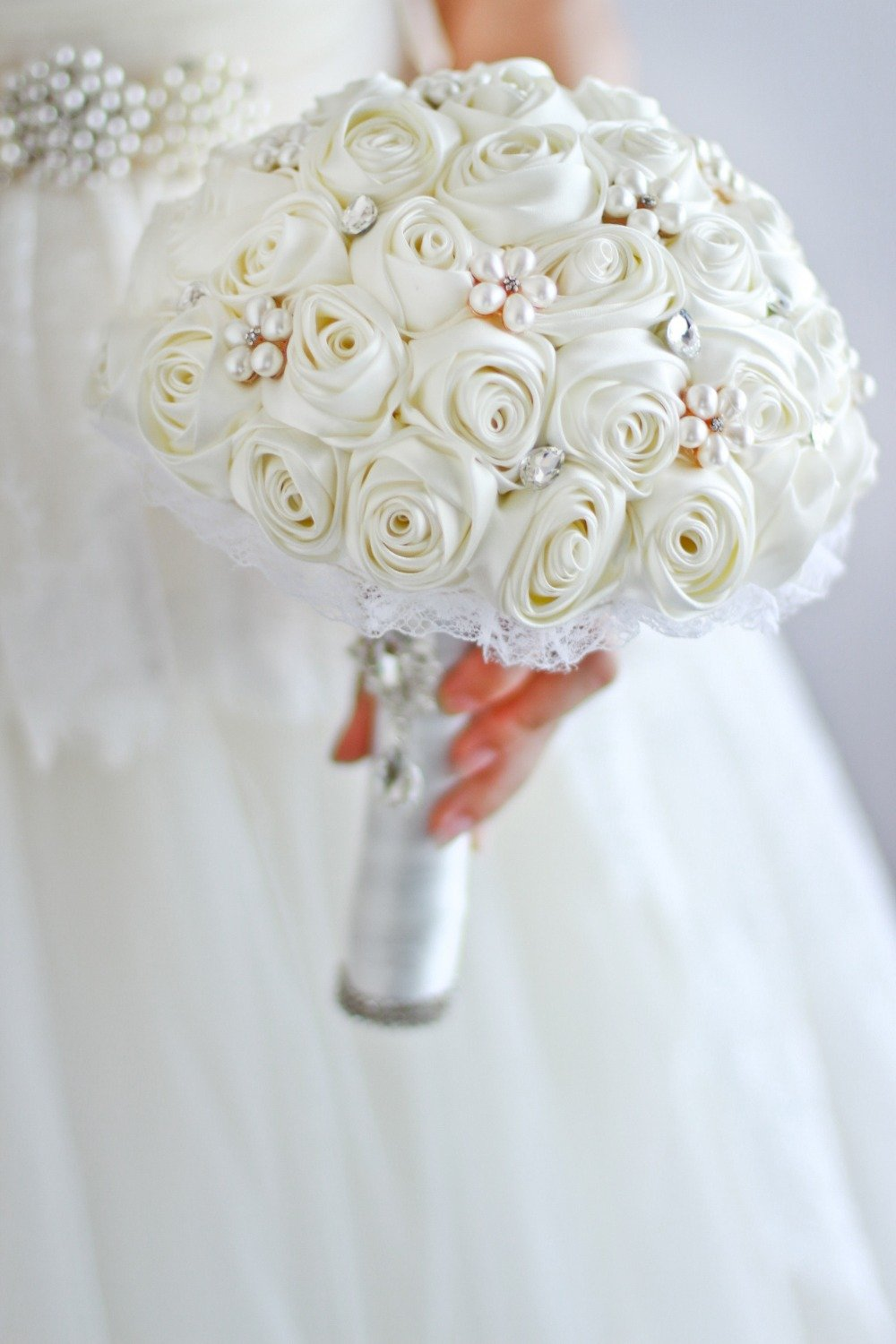 Amazon Ivory Rose Flower Bridal Brooch Bouquet Wedding Bride S