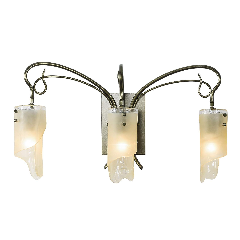 Kichler 5462AP Bath Vanity Wall Lighting Fixtures, Antique Pewter 4-Light 27 W x 7 H 400 Watts