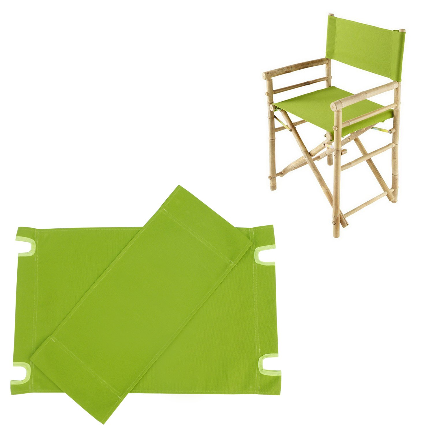 Zew Replacement UV Treated Color Durable Canvas for Bamboo Folding Directors Chairs, Green by Zew