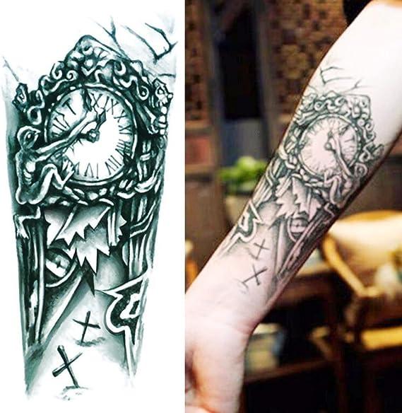 GREEN HOME 1 1 UNID Tatuajes Temporales Reloj Brazo Impermeable Al ...