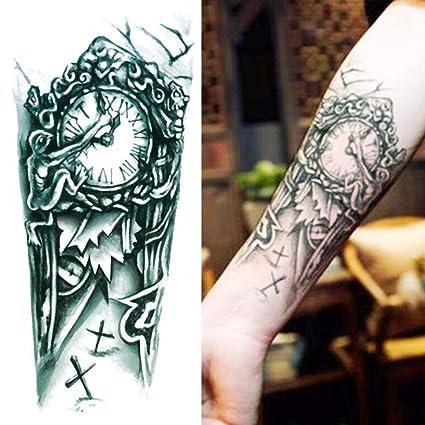 GREEN HOME 1 1 UNID Tatuajes Temporales Reloj Brazo Impermeable Al Por Mayor de Simulación Ambiental