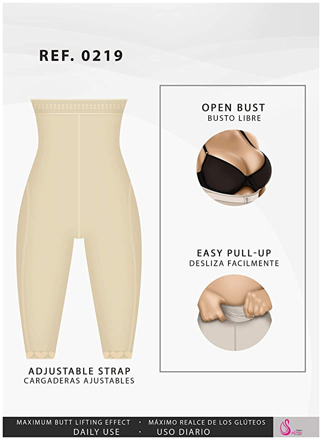 44c6f5fee Fajas Salome 0219 High Waist Slimming Underwear Butt Lifting Leggings Capris  at Amazon Women s Clothing store