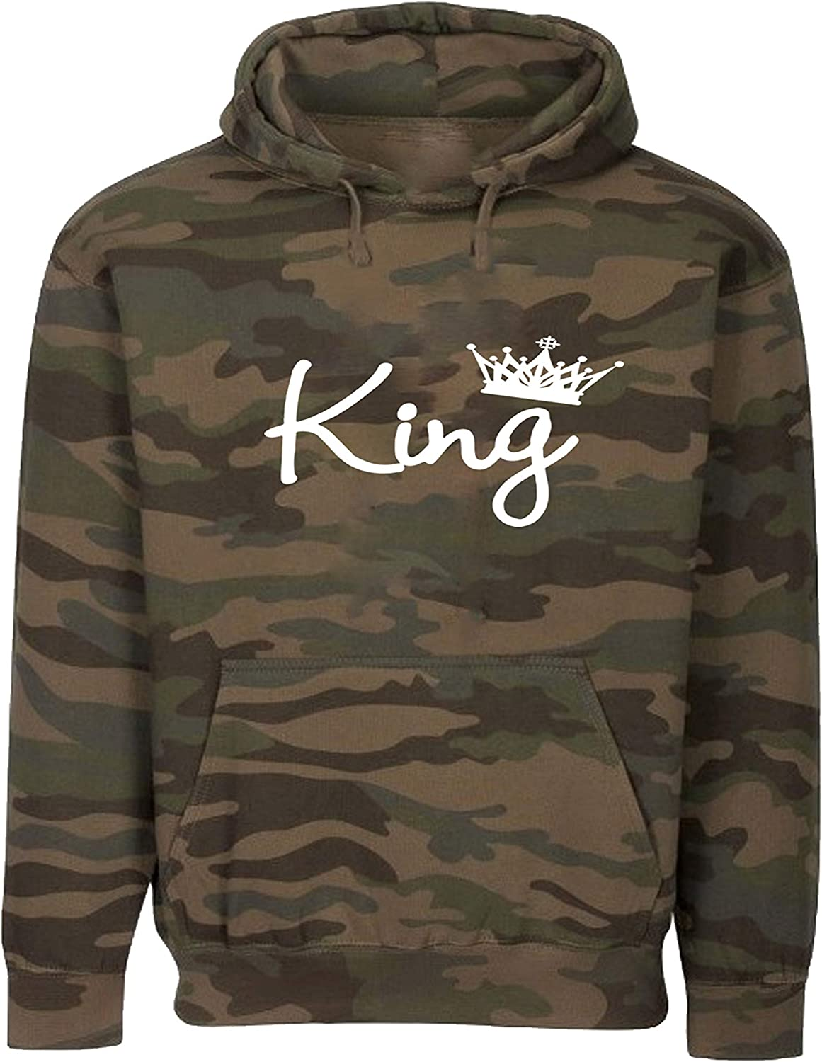 King Queen Couple Hoodies King and Queen Matching Tracksuits His and Hers Matching Hoodies Olive Queen Pant X-Large