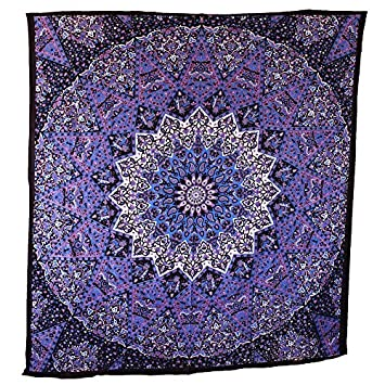 popular handicrafts hippie mandala tapestry blue purple tapestry wall hanging large table runner bed cover indian
