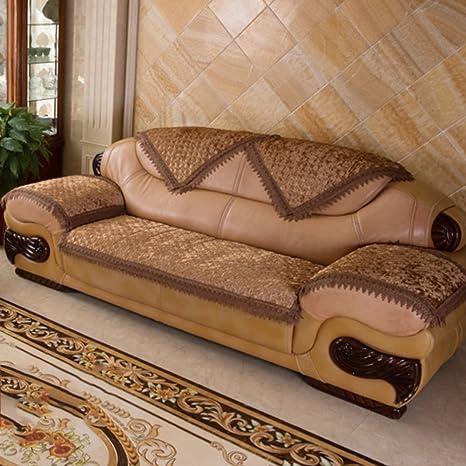 Fundas de sofá de cuero de tela de lujo Fundas sofá ...
