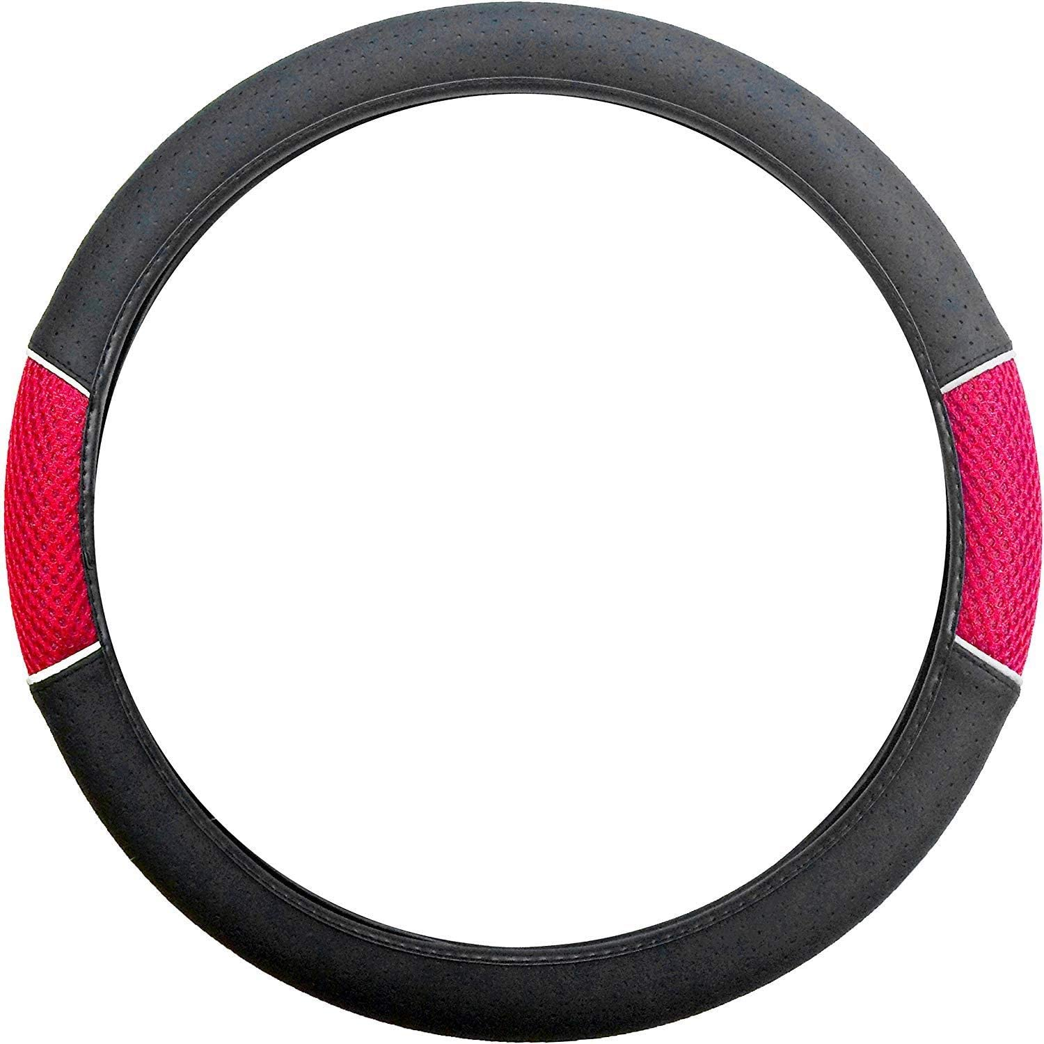 UKB4C Red /& Black Steering Wheel /& Front Seat Cover set for Vauxhall Tigra All Models