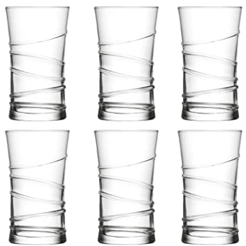 """LAV 12 teiliges Wassergläser Saftgläser Trinkgläser Getränkegläser 350 ml /""""Ring/"""""""