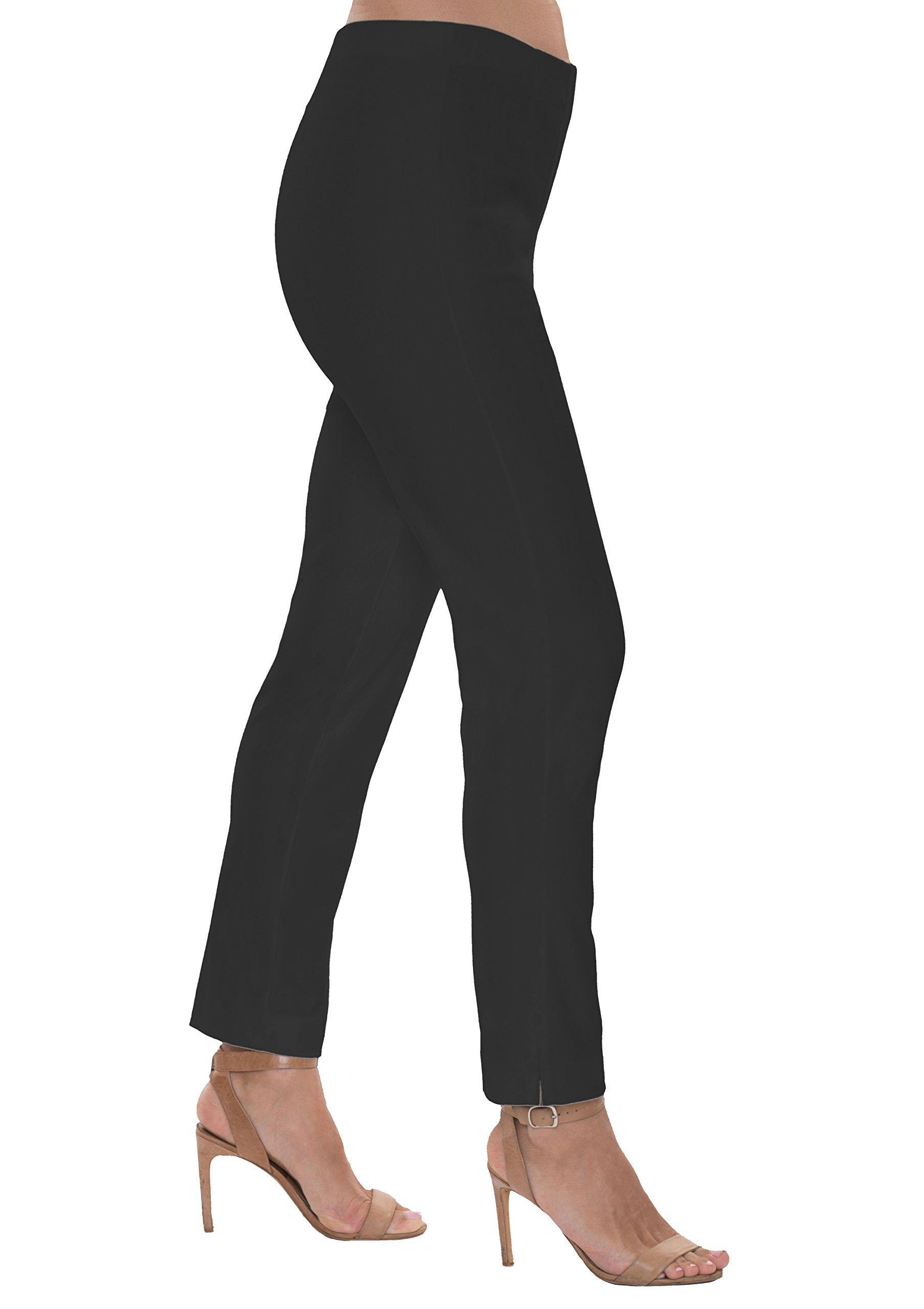 Lior Paris Sasha Sleek and Slim Pull-On Pant (Black-4)