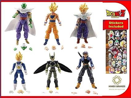 "6Pcs Dragon Ball Z 5/"" Figures Piccolo Cell Trunks Super Saiyan Goku Gohan Vegeta"