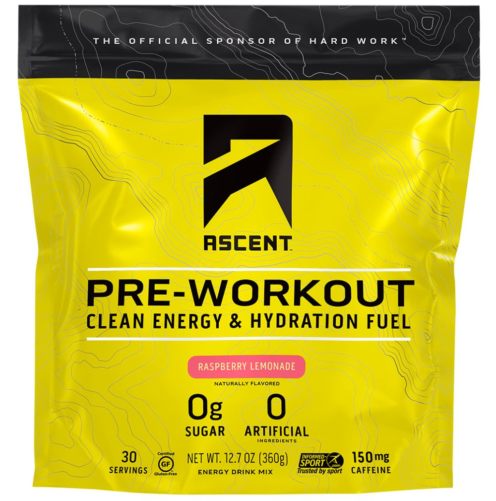 Ascent Pre Workout - Raspberry Lemonade - 30 Servings