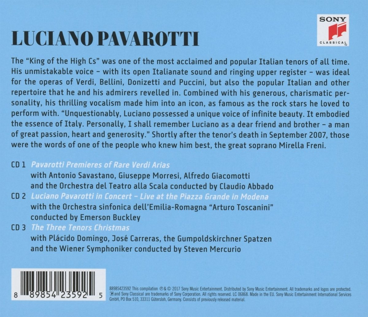 Luciano Pavarotti, The Three Tenors, Gaetano Donizetti, Giacomo Puccini, Giuseppe Verdi, __ - The Great Luciano Pavarotti - Amazon.com Music