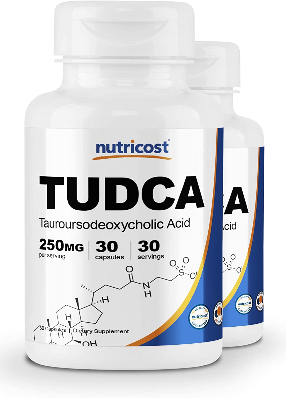 Nutricost Tudca 250mg, 30 Capsules 2 Bottles