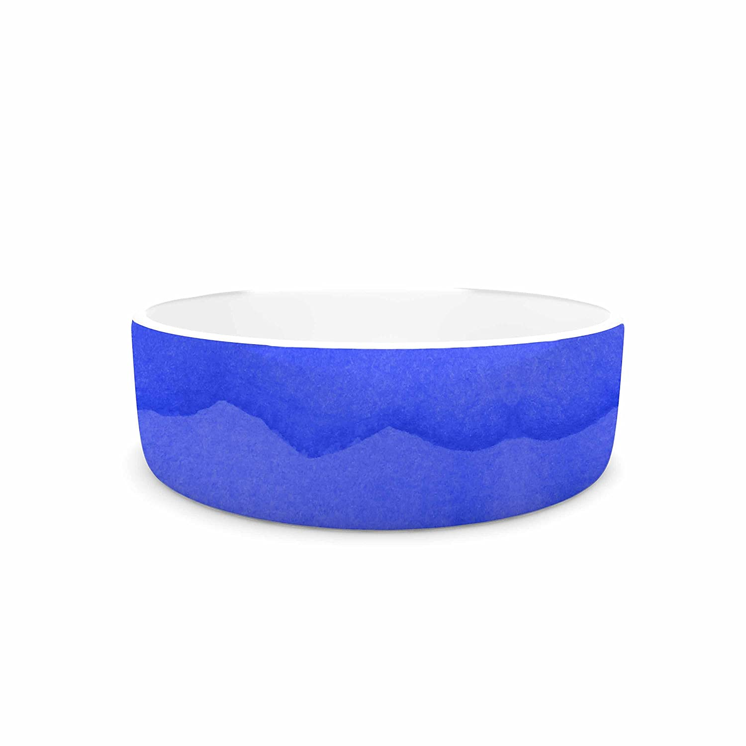 KESS InHouse KESS Original Ombre Berry  bluee Digital Pet Bowl, 7