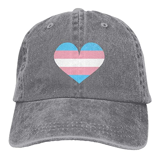 46b03b1f963 Trans Pride Heart Dad Hat Adjustable Denim Hat Classic Baseball Cap at  Amazon Men s Clothing store