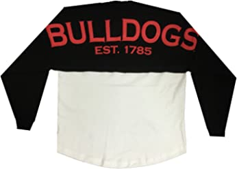 Georgia Bulldogs Est. 1785 Longsleeve Sweeper Jersey-Black-Medium 76321352c