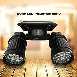 ICOCO Solar Motion Light 14 LEDS PIR Motion Sensor Light Dual-head Outdoor Spotlight Garden Light Day White