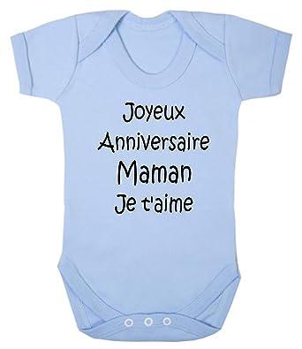 Click My Clobber Bebe Body Joyeux Anniversaire Maman Amazon Fr
