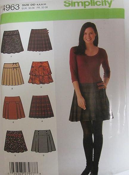 Amazon Simplicity 4963 Misses Mini Skirts Sewing Pattern Size 4