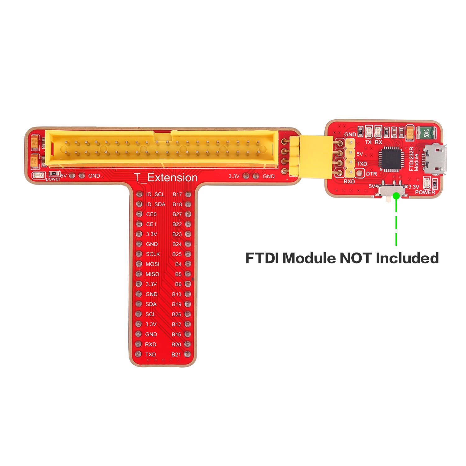 Sunfounder Gpio Extension Board T Shape Cobbler Breakout For Wiringpi Odroid C1 Raspberry Pi 3 2 Model B Rpi 1 With 40 Pins Ribbon Cable Toys