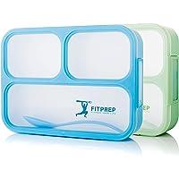 FITPREP Original Lunchbox Set I 2 Stück I Meal Prep I Bento Box I 3 Fächer I Auslaufsicher - Jede Kammer untereinander I Spülmaschinengeeignet (ohne Deckel) BPA frei