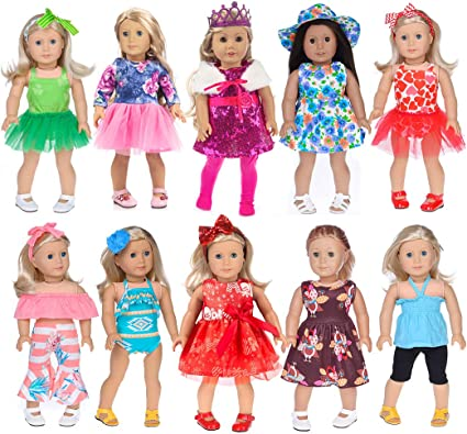 "New Lot 17 Set Blue Outfit Shoes Accessory 18/"" American Girl doll Xmas gift 2020"