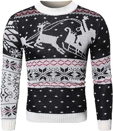 Mens Unisex Christmas Reindeer Novelty Knitted Jumpers