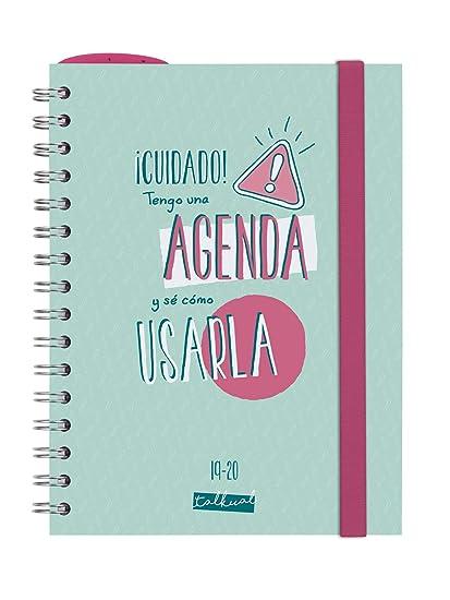 Finocam - Agenda 2019-2020 semana vista apaisada español Talkual Turquesa