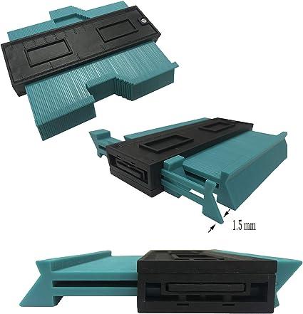 TICIOSH medidor de contornos de plástico de 5 pulgadas, forma ...