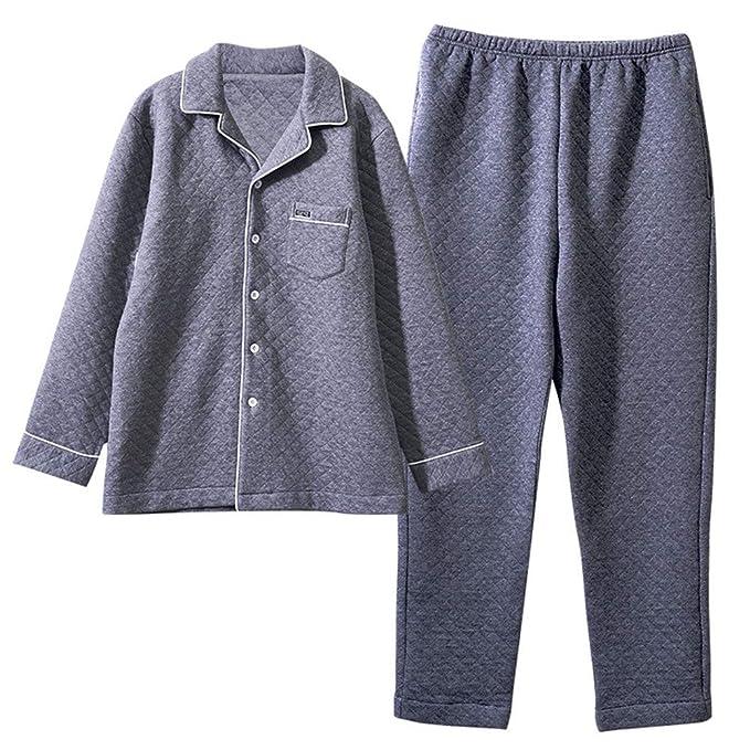 Mmllse Pijamas Vestidor Dormir Manga Larga Ropa De Invierno Ropa De Casa Ropa Interior Acolchada Hombre