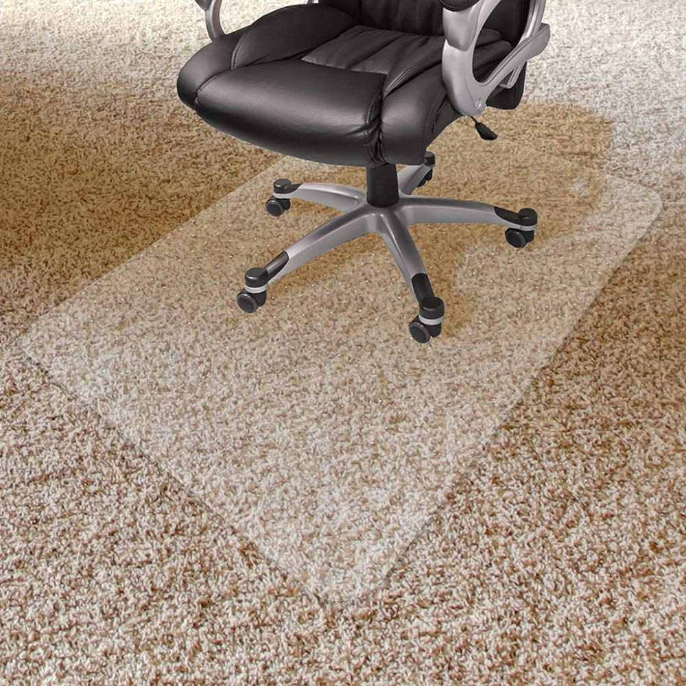 Office Chair Mat PVC For Carpet Floor Floor Protector For High Pile Carpets 3mm Thick Studded Backing,3mm-90x120cm