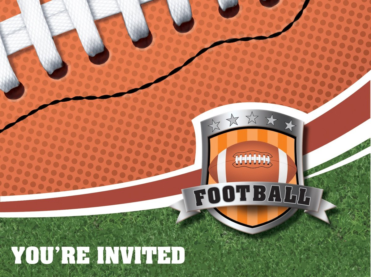 Amazon.com: 8-Count Party Invitations, Football: Kitchen & Dining
