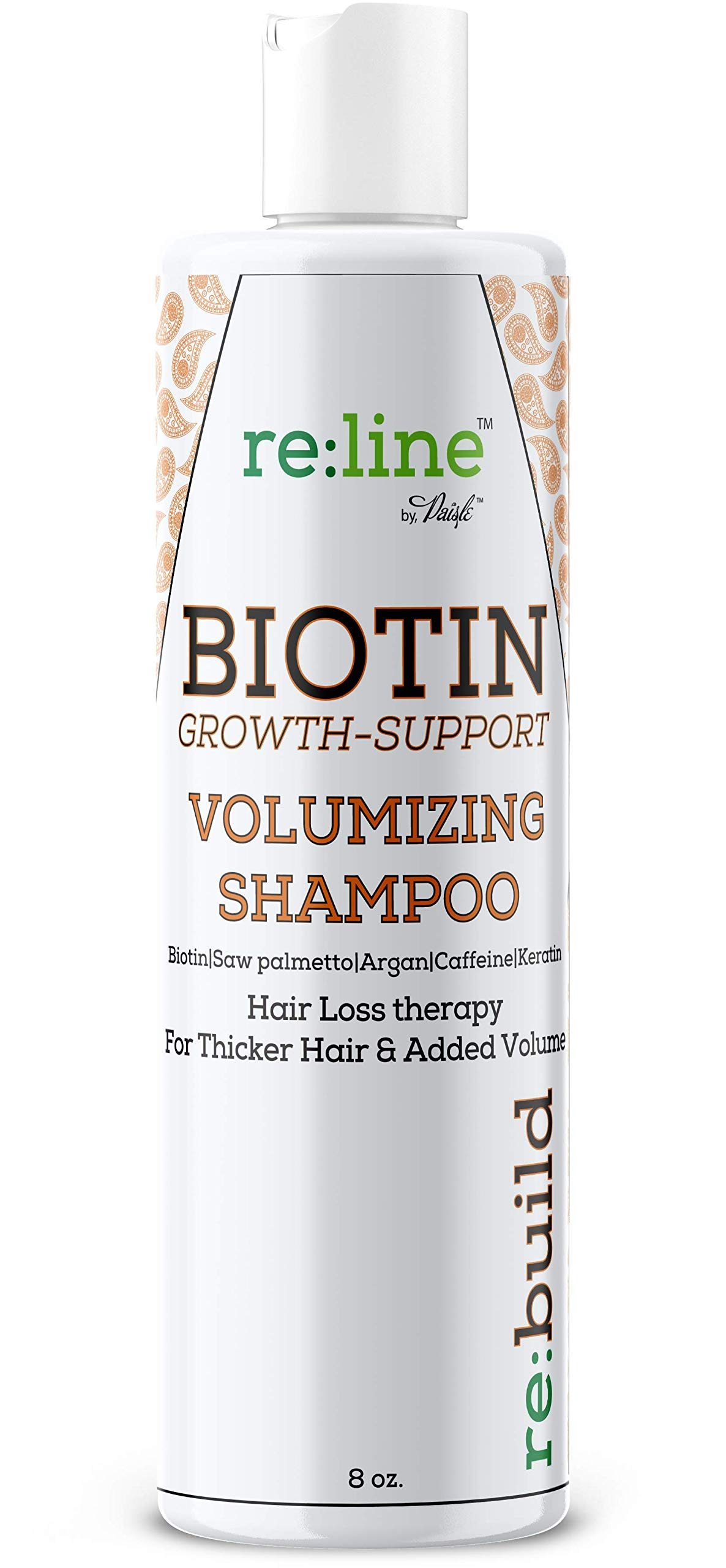 Volumizing Biotin Hair Loss Shampoo Volume Shampoo for Hair Growth All Natural Thickening for Thinning Hair Loss Treatment Sulfate Free for Color Treated Hair for Women & for Men by Paisle Botanics