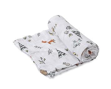 Forest Friends Little Unicorn Cotton Muslin Burp Cloth