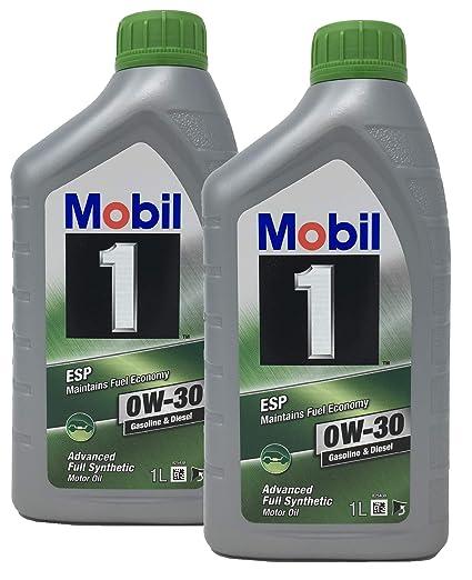 Mobil 1 Aceite 100% Sintetico Motor ESP 0W-30, Pack 2 litros ...
