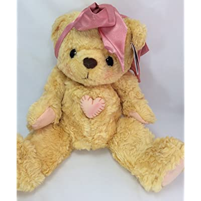 Cherished Teddies Bear With Pink Bow: Toys & Games