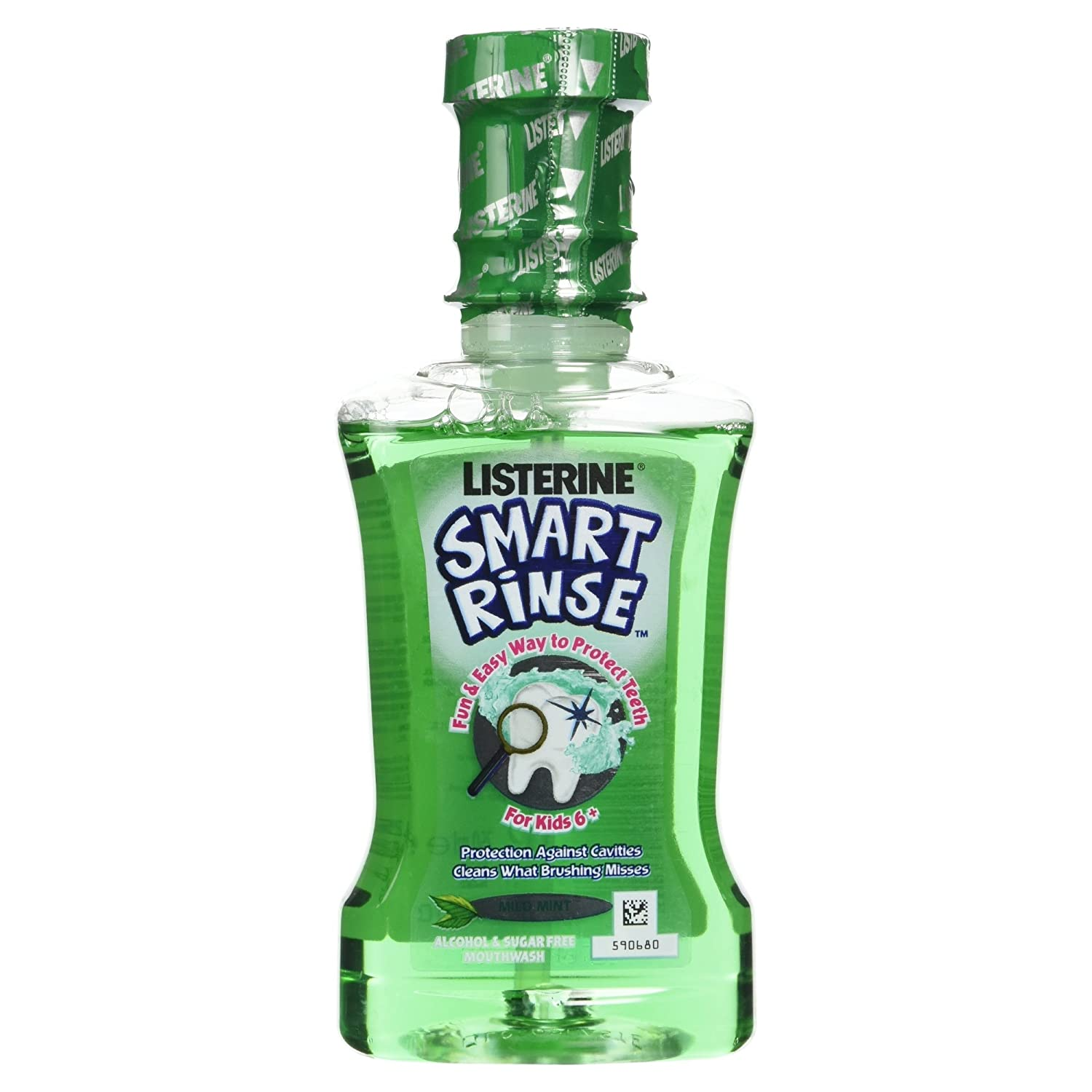 Listerine Smart Rinse Kids Mouthwash Mild Mint