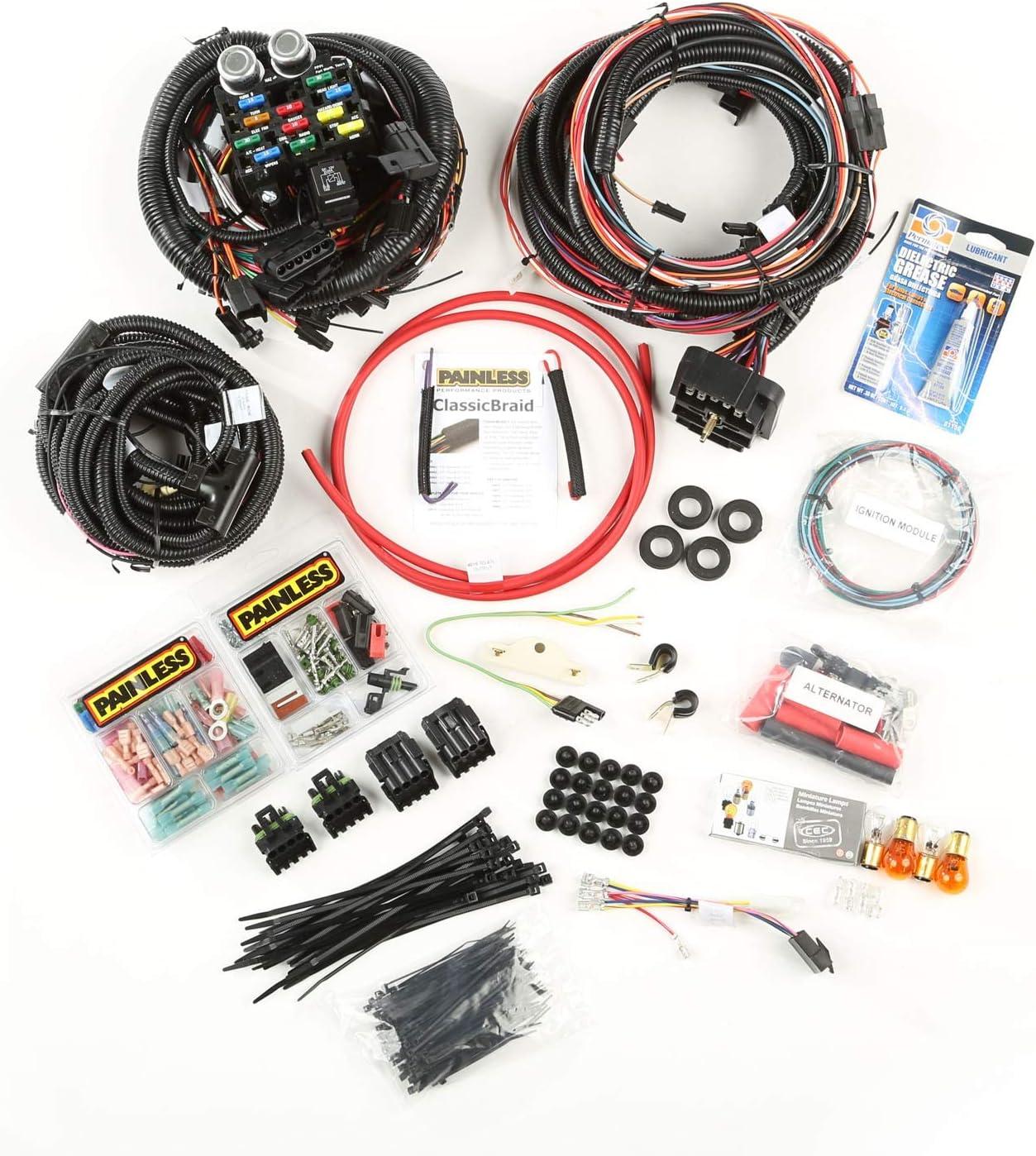 amazon.com: omix-ada 17202.04 painless wiring harness for jeep cj models:  automotive  amazon.com