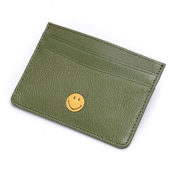 Slim tipo Cartera RFID bolsillo frontal tipo cartera tarjeta de piel funda dinero clip titular de la tarjeta de Crédito: Amazon.es: Ropa y accesorios