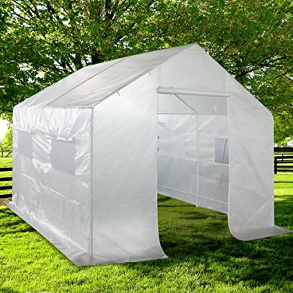 Quictent 2 Doors Portable Greenhouse Large Green Garden Hot House Grow Tent More Size (10 & Amazon.com : Quictent 2 Doors Portable Greenhouse Large Green Garden ...