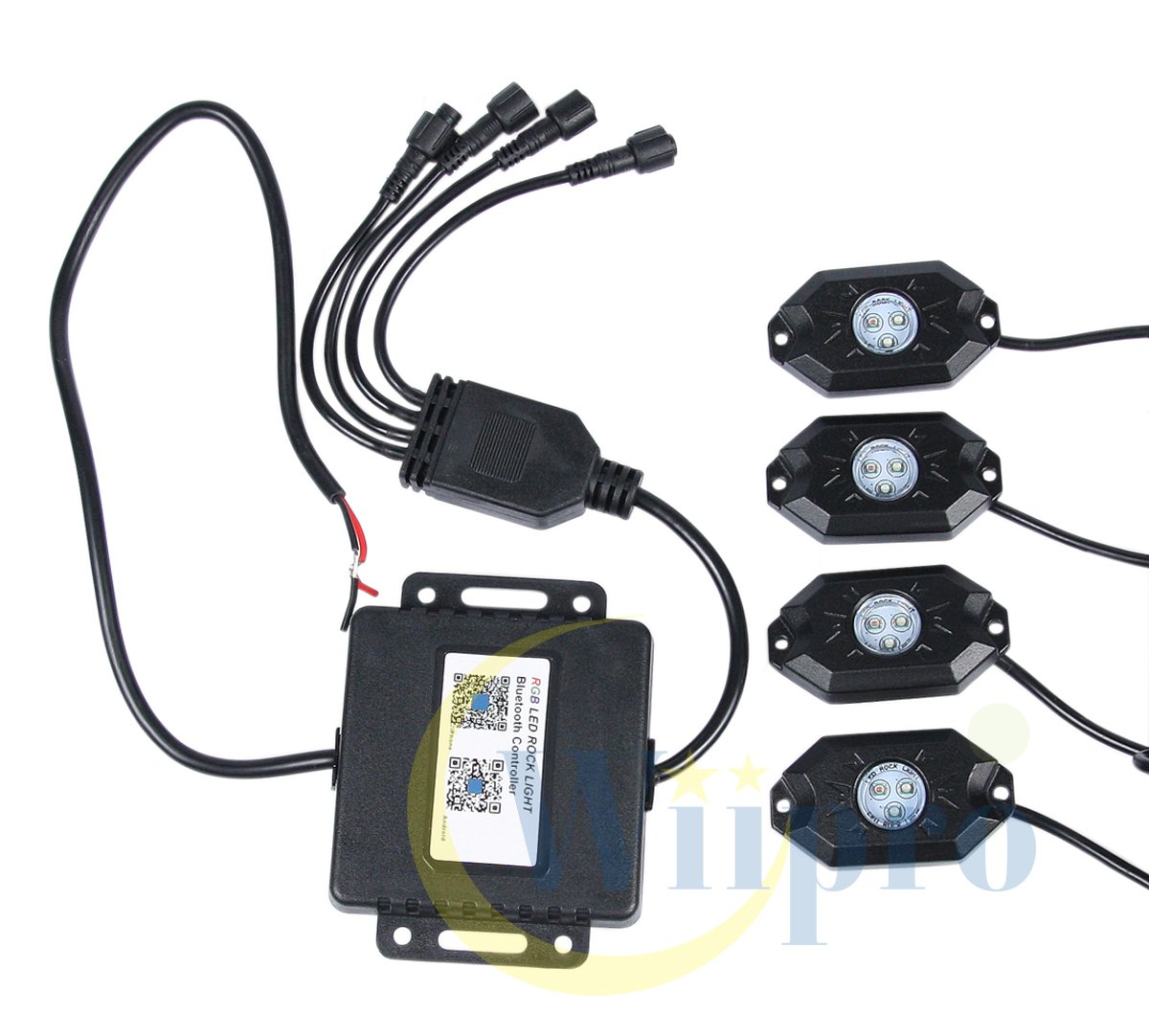 4 Pods Multicolor Neon Underglow Lighting APP Bluetooth Control /& Timing /& Flashing /& Music Mode for JEEP Off Road Truck Car ATV SUV Yacht Boat 4332998144 Wiipro LED RGB Rock Lights Kit