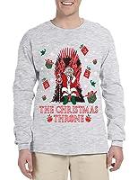 Allntrends Men's Long Sleeve The Christmas Throne Santa Trendy Ugly Xmas