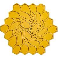 MODERN-TWIST Hive Silicone Trivet, Potholder, Single, Mustard